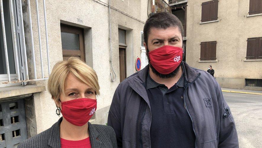 Ghislaine Gistau et Sébastien Lallier, les délégués CGT de la Sam.