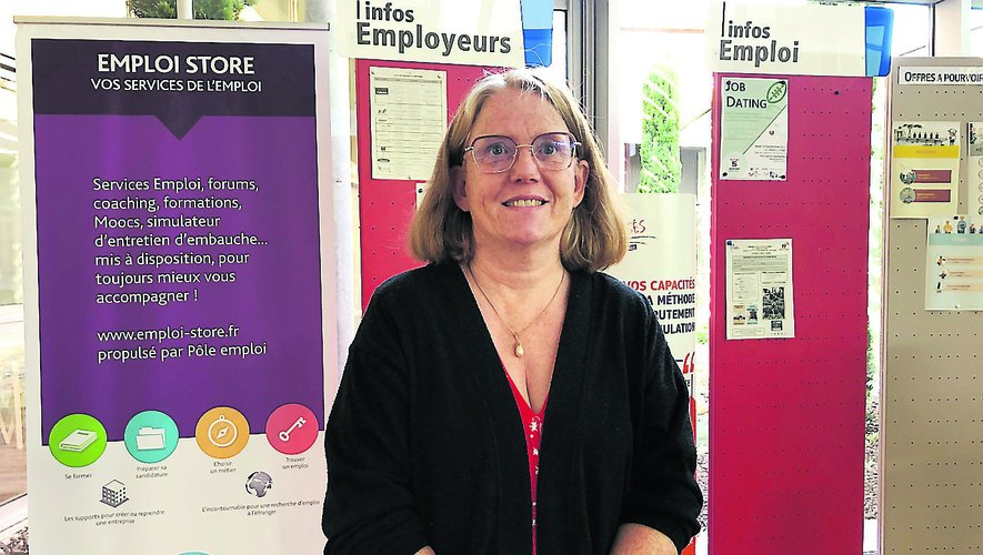 Marie-Paule Solofrizzo, directrice de l'agence Pôle emploi à Decazeville.