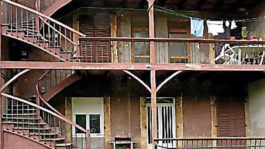 Maison à coursives à Viviez.