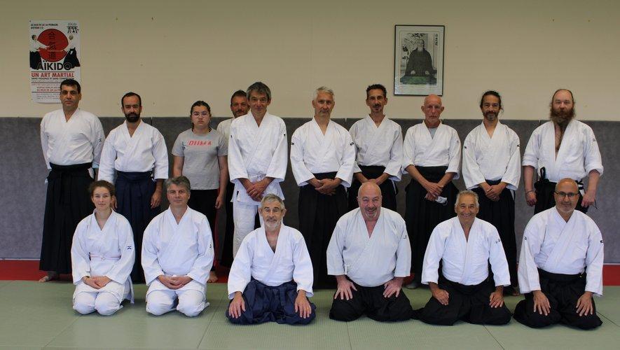 Les participants à cette rencontre au dojo de Luc.