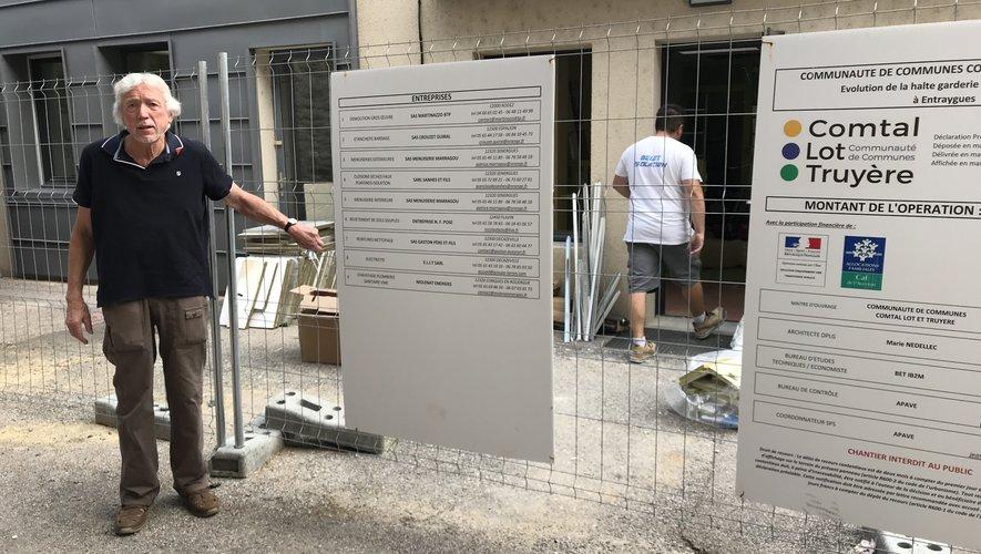Le chantier de la microcrèche d'Entraygues est en cours.