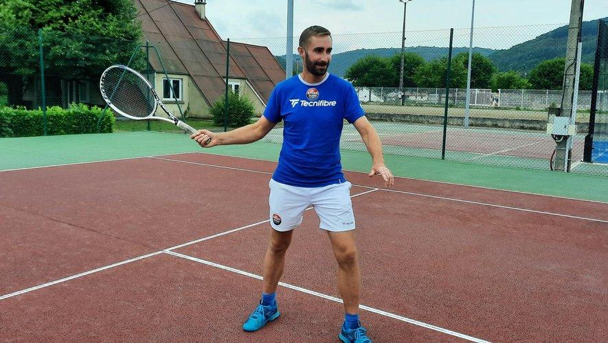 Johan Brun entend faire progresser l'école de tennis.