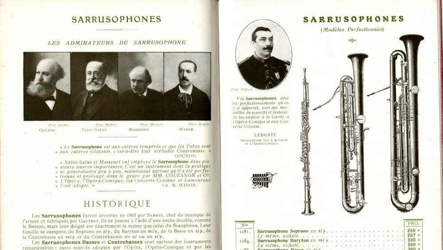 Le sarrusophone se joue comme un saxophone. Sa sonorité a su séduire les plus grands compositeurs.