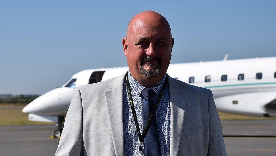 Vincent Meneghetti, directeur de l'aéroport Rodez-Aveyron.
