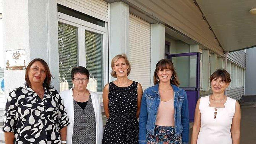 Caroline Féral-Soulié, au centre, avec une équipe prête à relever des défis.