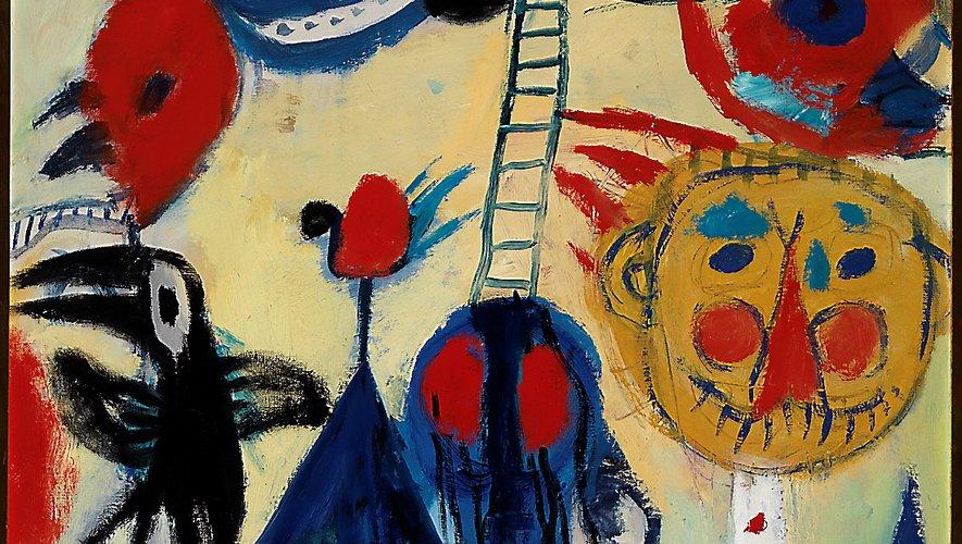 Une œuvre de Constant Anton Nieuwenhuys. Le mouvement CoBrA est né à Paris, en 1948.