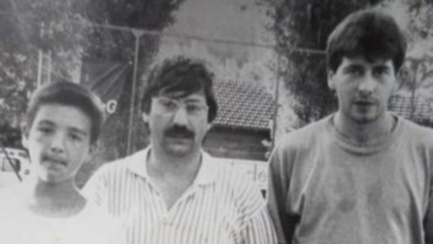 Bruno, ici à droite vainqueur d'un tournoi à Viviez,  était l'un des meilleurs joueurs aveyronnais.