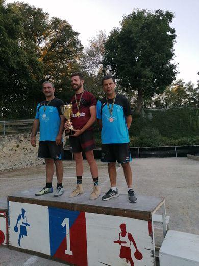 Le podium pour Cédric et Marc