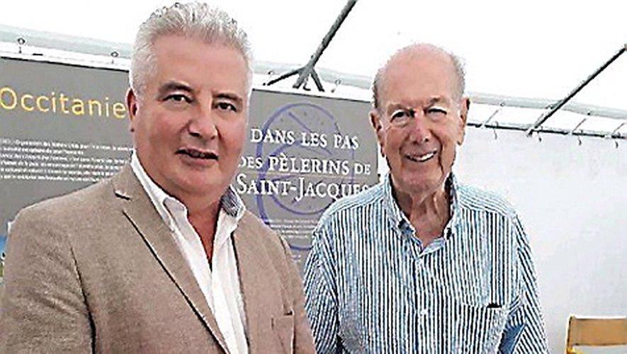 En septembre 2018, Olivier Giscard d'Estaing et le conseiller départemental Jean-Claude Anglars.