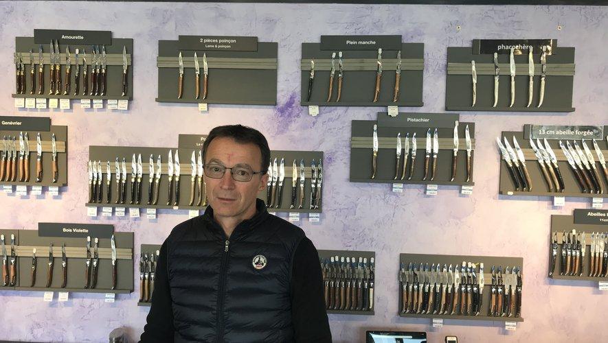 Honoré Durand, président du syndicat des fabricants aveyronnais du couteau de laguiole, demeure optimiste sur l'obtention de l'indication géographique protégée.