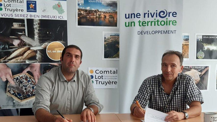 Nicolas Bessière et Alain Picasso ont signé la convention de partenariat.