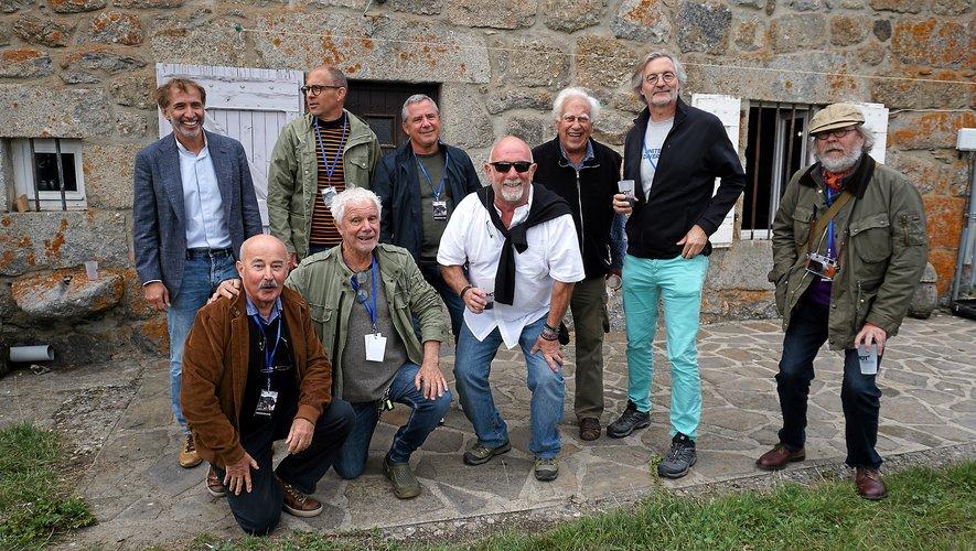 Une belle équipe de photographes autour de Jean-Pierre Monteil et de Maurice Subervie.