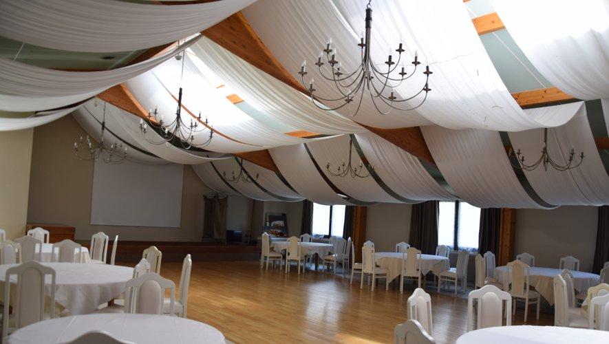 La salle de banquet et séminaire.
