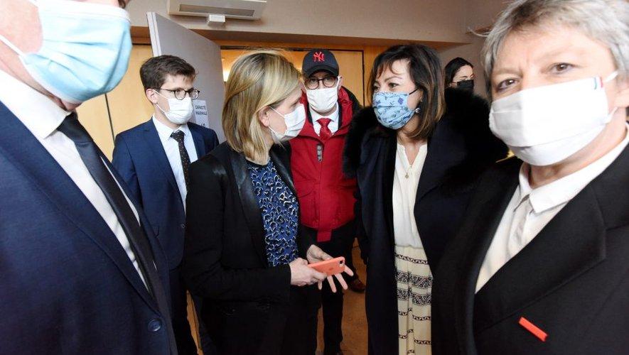 Carole Delga et Agnès Pannier-Runacher en mars dernier à Rodez.