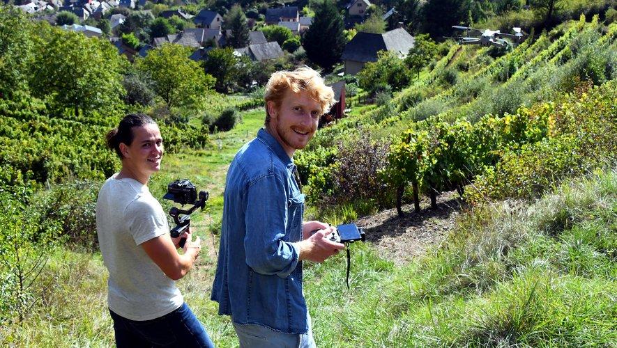 Tolt était hier après-midi  dans le vignoble de Marcillac.