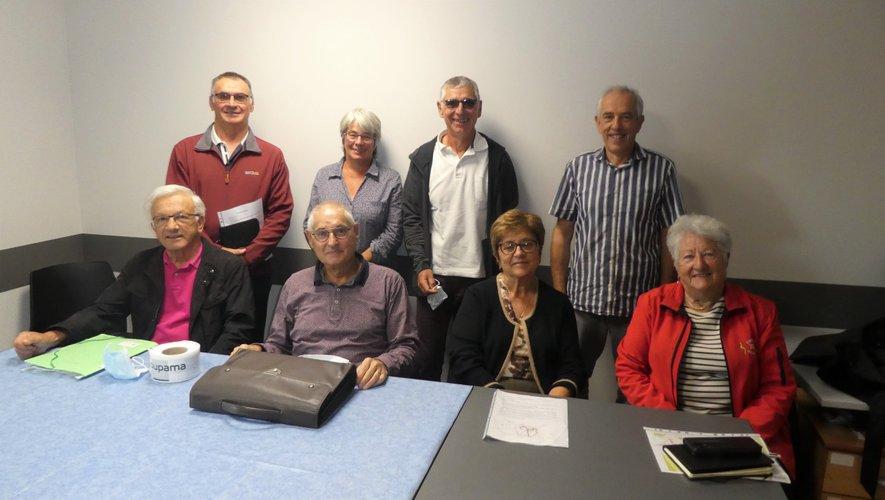 Les participants à cette réunion autour du président de l'ADMR Brienne et Viaur, Jean-Marie Laur.