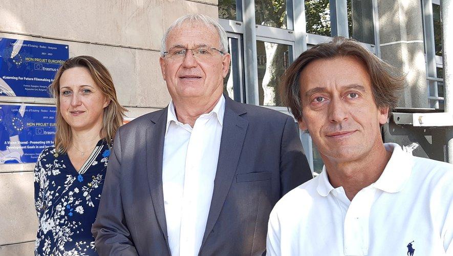 Marylène Edet, Alain Clet et Jean-Marie Roques inscrivent les projets européens dans l'ADN de l'établissement.