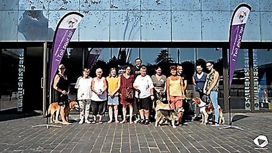 """La manifestation organisée par l'association de protection animale ruthénoise """"1 toit pour toi""""."""