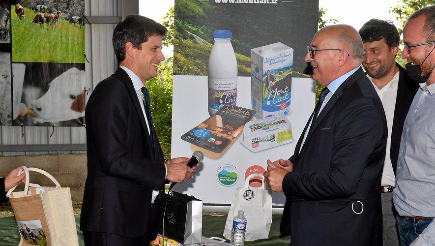 Le ministre de l'Agriculture est passé vendredi en Aveyron.