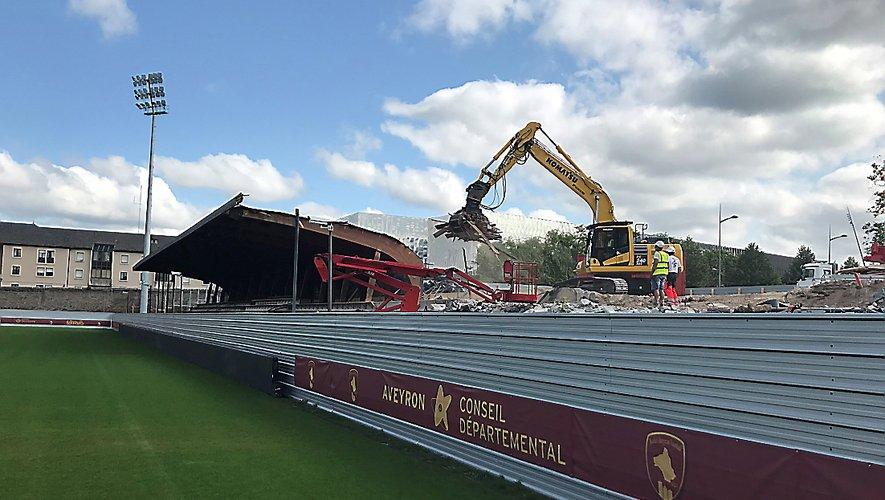 Le chantier du futur stade est sur les rails.