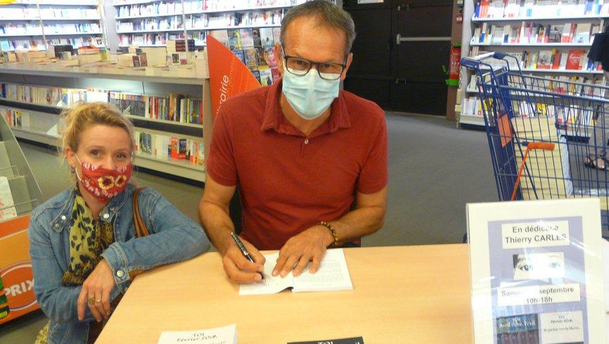 Thierry Carles dédicaçait ses deux romans