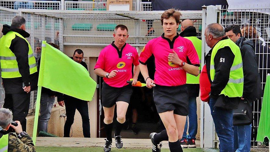 L'arbitre licencié à Rodez, Adrien Maset.