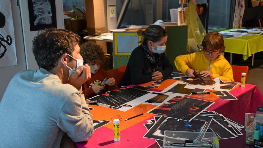 Les ateliers proposés par le musée Soulages ont fait le plein.