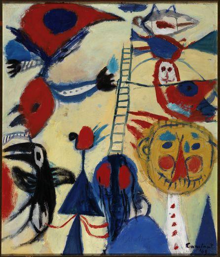 La nouvelle exposition surprendra autant par les couleurs que par ses dessins proches de l'art brut
