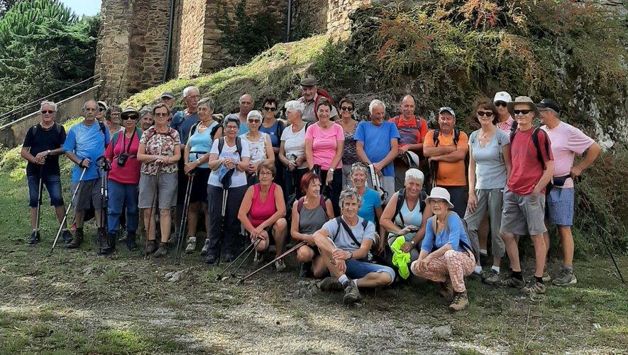 Les participants à la randonnée  autour de Rulhac Saint-Cirq.