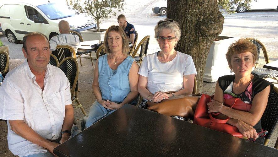 Diego Diaz, Dominique Ponties, Nathalie Carayon et Christine Frontil  ont tous les quatre leur maman à l'Ehpad de Rulhe.