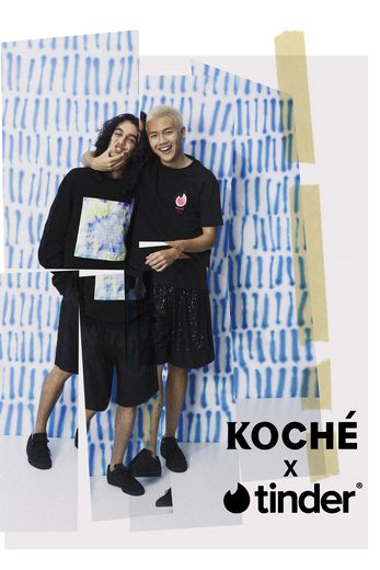 Tinder et Koché s'associent autour d'une capsule mode non genrée.