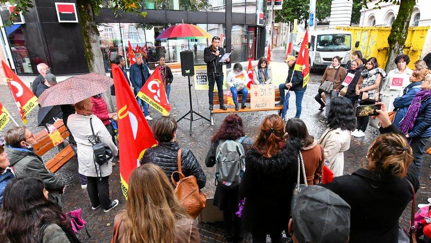 Manifestation des agents départementaux ce mardi entre 10 heures et midi à Rodez.