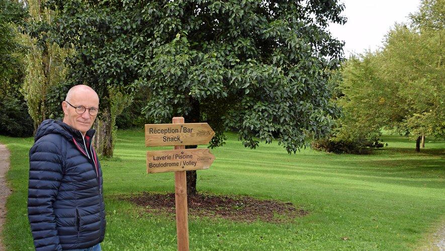 Yves Verdié, dans le parc de Combelles pour lequel il a de nouveaux projets.