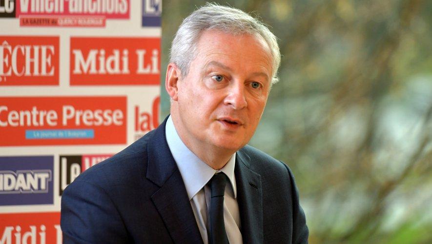 """Le ministre de l'Economie Bruno Le Maire a salué une """"révolution fiscale""""."""