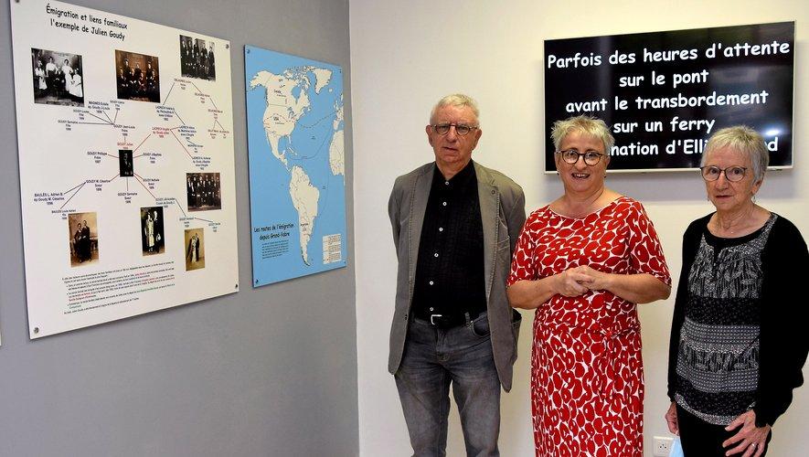 Marie Bier, aux côtés de Solange et Pierre Madrières dans le nouvel Espace Amériques.