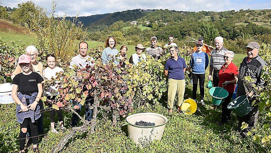 Samedi, la récolte a été effectuée en famille d'une petite dizaine de coupeurs et porteurs.